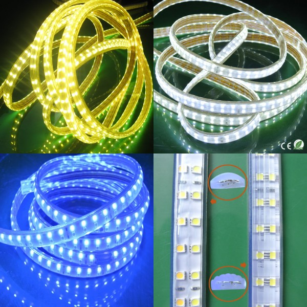 China supplier led rope double row flexible light high quality smd 5050 led strip cristmas decoration