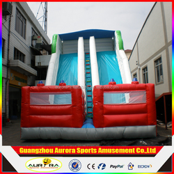 Outdoor Playground Inflatable Slide,inflatable slide with dual lanes