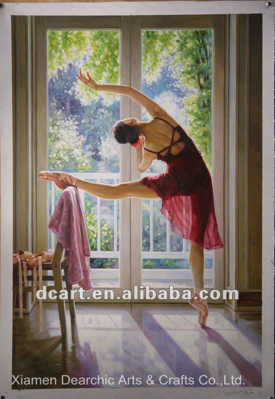 Hot Seller Girl Ballet Canvas Painting