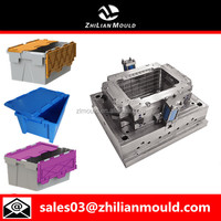Plastic crate with lid mould maker in taizhou
