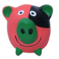 colorful squeaky pig shaped dog toy