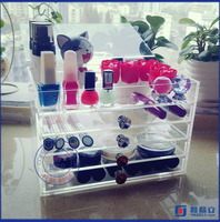 Yageli clear makeup tray organizer / plexiglass cosmetic makeup organizer