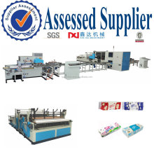 Hotel Tissue Paper Filling Machine Toilet Rolls Packing Production Line