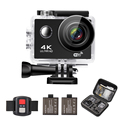4K WIFI Sports Action Camera Ultra HD Waterproof DV Camcorder 16MP 170 Degree Wide Angle Remote Control 2 batteries 1050mAh