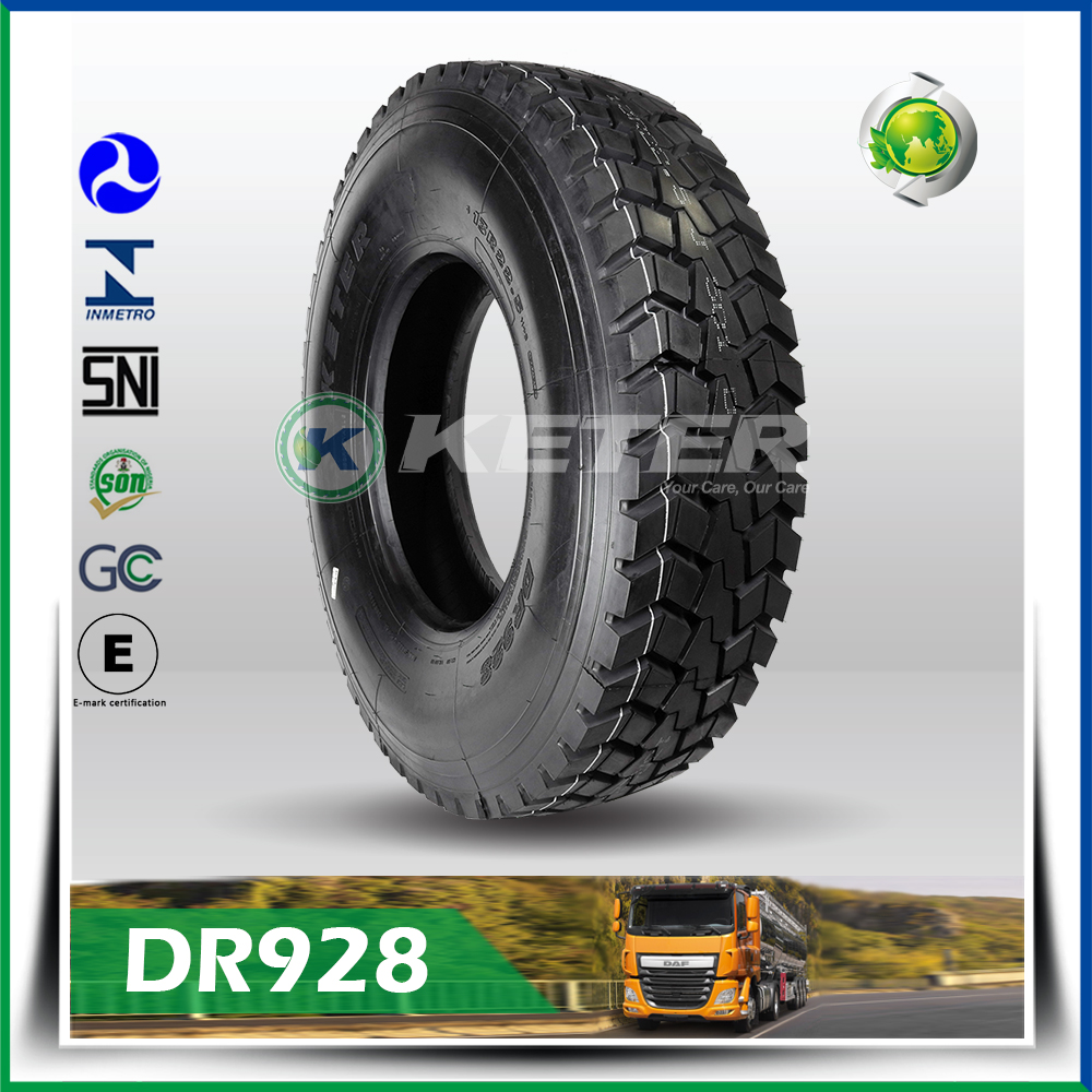 Keter brand front back trucks tyres tires 11r22.5