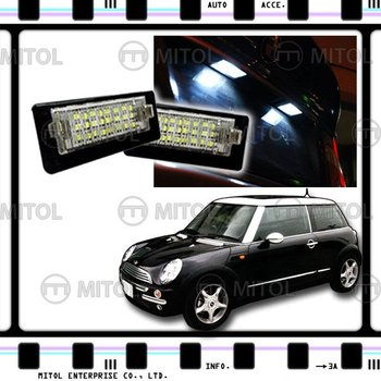 For Mini Cooper R50 R53 01-06 LED License Plate Lamp