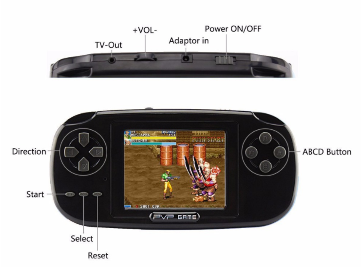 "2.8"" 168 Games 8 bit game pocket LCD PVP Game Player Classic Game Console"