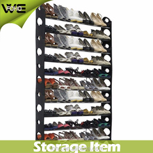 10 tier 50 pair heavy shoe storage rack,folding plastic shoe rack designs for home