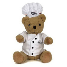 customized chef plush soft toy teddy bear for promotion gifts