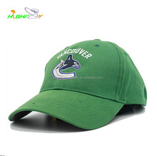 High quality OEM green cotton twill custom 6 panel baseball cap golf hat/embroidery logo polo cap