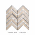 Hot Sale Chevron Marble Mosaic Bathroom Floor Tiles For Floor and Wall