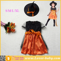 3 -11 Old Children Suits Orange Charmed Witch Costume