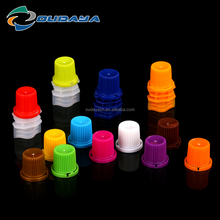 8.6mm Alibaba China Supplier plastic double gap spout with cap for drinking pouch