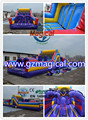 outdoor tunnel playground inflatable bouncy toys/ inflatable obstacle bounce