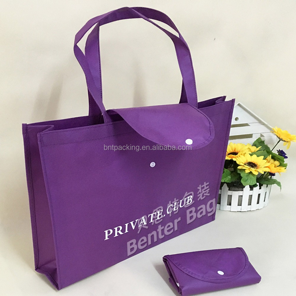 Customized top quality shopping folder non woven bag