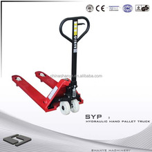 2014 hot SHANYE low profile hand pallet truck 2 ton truck