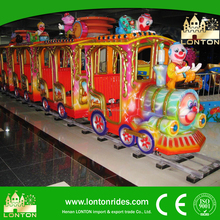 Kiddie Amusement Rides Electric Mini Train in Backyard Playground For Sale