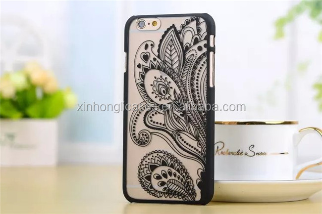 Retro Palace Flower Painted Phone Case For iPhone7 PC Hard Cover Case
