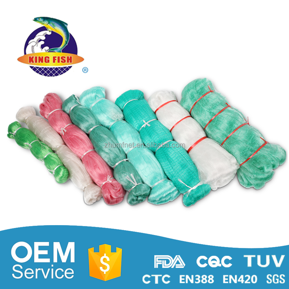 100%Pa cheap knotted strength china trading price hdpe style nylon 500m nylon pe multifilament gill fishing multi net for sale