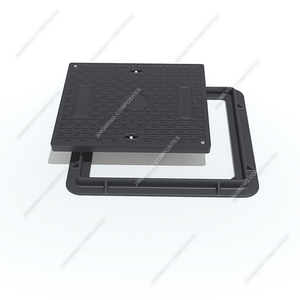 EN124 B125 Black Composite Plastic Manhole Cover