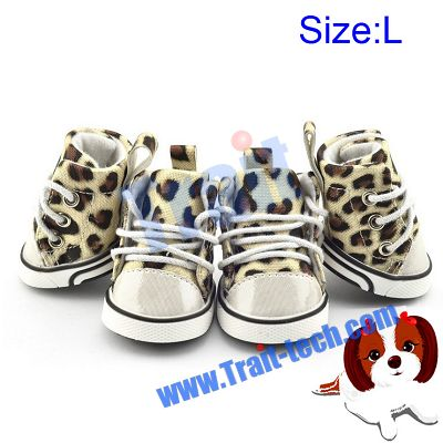 Cute Leopard Print Waterproof and Anti-slip Pet Shoes Cat And Dog Shoes