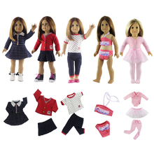 Hot 5 New Style Doll Dress Set for 18 '' American Girl Dolls clothes