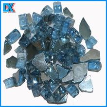 Decorative Glass Blocks Crushed Reflective Tempered Glass