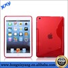 2013 Fashion RED s line tpu soft back case for ipad mini