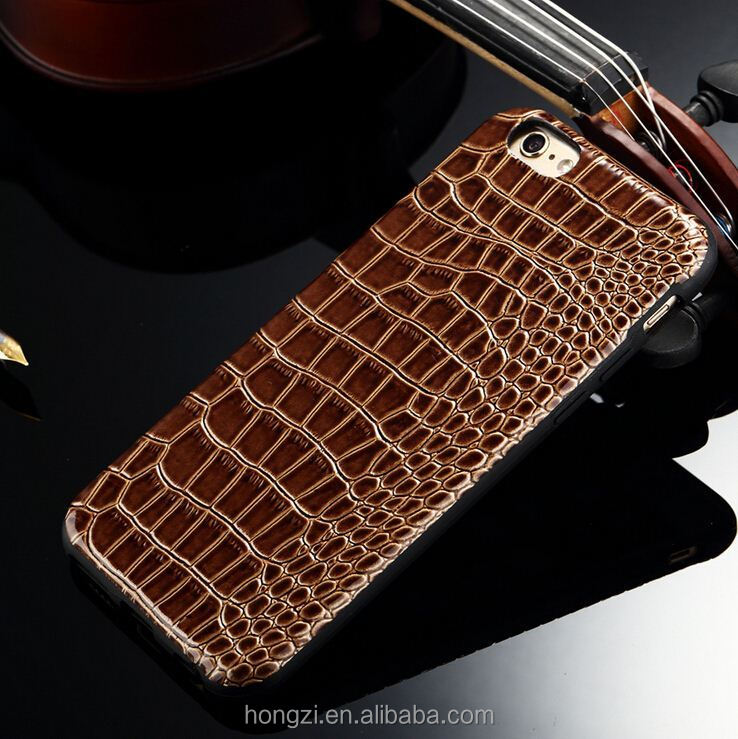 New Luxury Retro Crocodile Skin Soft TPU Cell Phone Case For Apple iPhone 5 5S 6 6Plus 7 7 Ultra Luxury Leather Back Cover