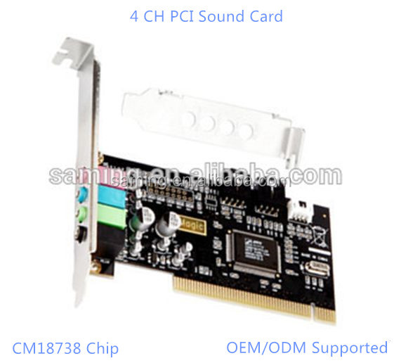 4 CH PCI Sound Card(CMI8738 chip) / Best selling virtual 32-bit sound card 4 channel