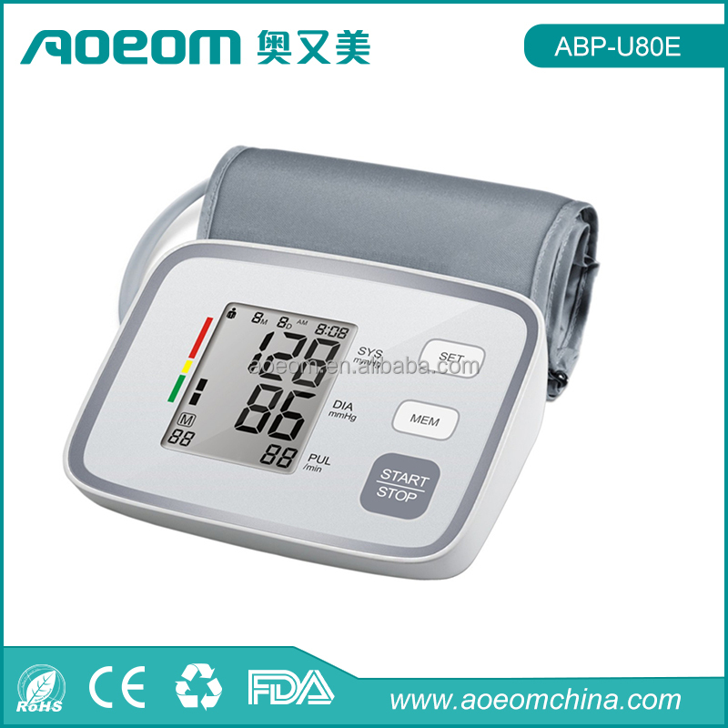 Electronics medical equipment CE FDA certificates arm blood pressure monitor automatic