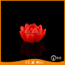 Unique Carved Opening Flowers Paraffin Wax LED Battery Operated Candles