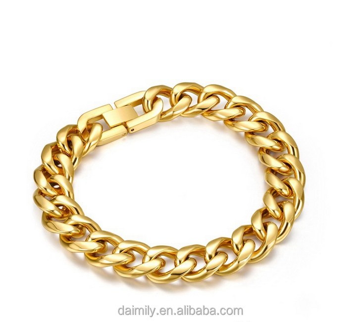 High quality 18K gold plated titanium steel bracelet for men and women DMTT -078