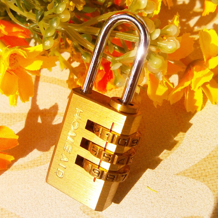 CH-04B Top-Quality 3 digital solid brass digit combination padlock