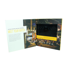 Promotional Business 254 x 254 mm Paper Card LCD 10 inch Video Brochure