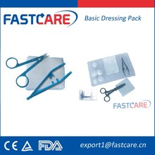 CE Sterile Disposable Basic Dressing Set for wound care