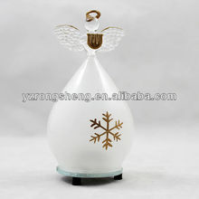 Decorative white glass Christmas led angel