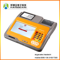 "7"" Android pos terminal with receipt thermal printer QR barcode scanner all in one GC039C"