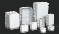 cable junction box plastic box with knock out and rubber for electrical industry, TIBOX