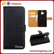 2015 hot selling folding PU leather filp cover for HTC M9 plus case with Holder