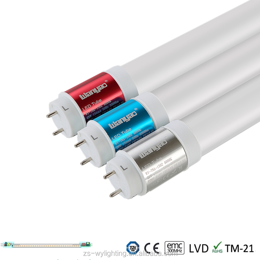 High quality TUV 5ft T8 23W 120lm/w led tube lights price in india