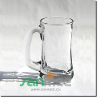 Anhui Glassware Heavy Base Bottom Pint Beer Glass Mug with Handle