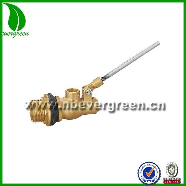 Brass water trough level float valve