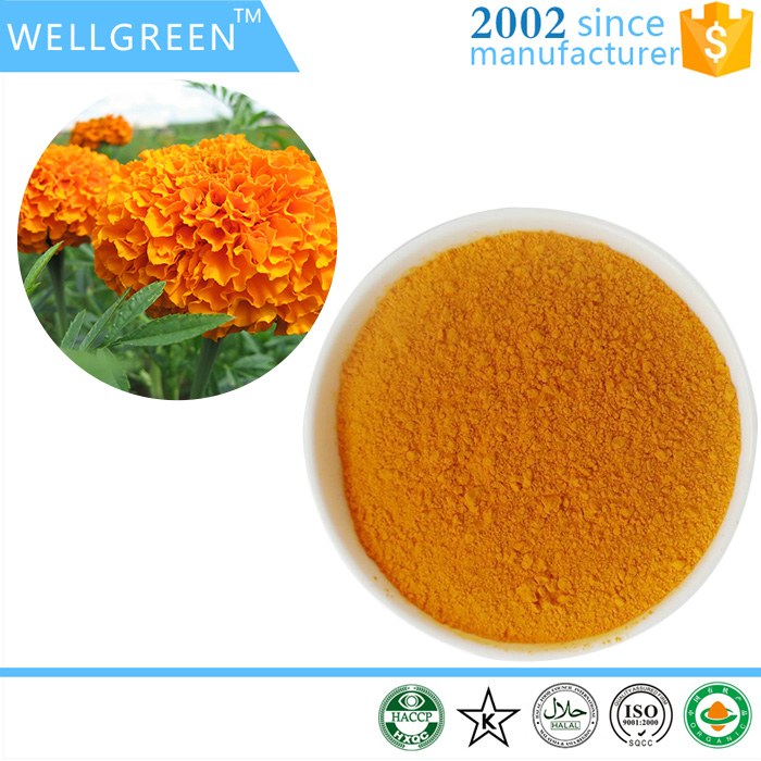 Wellgreen Supply synthetic lutein and zeaxanthin of marigold extract 8%/50%/98%