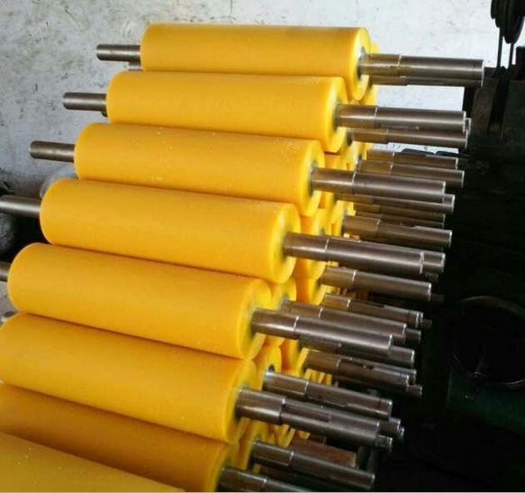 casting&injection plyurethane guide roller for glass machine,Custom vulcanized rubber coated roller,