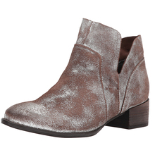 Latest Arrival Wholesale China Ladies Shoe Flat Heel Leather Uppers Sparkly Shoes Ankle Boots Women 2017