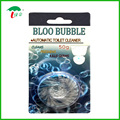 toilet bowl flush blue bubble tablet blue block cleaner