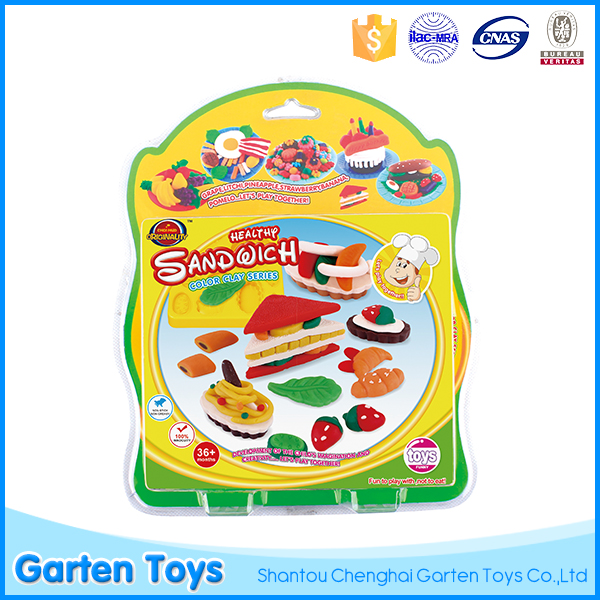 High quality Chrismas gift sandwich toy non toxic soft super light modeling clay