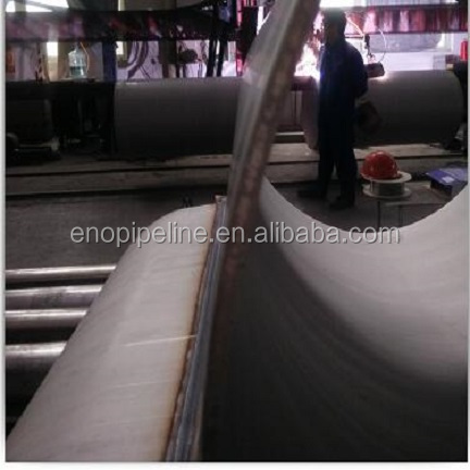 Thick wall ASTM stainless steel pipeline LSAW welded