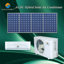 Wall home use 9000btu 12000btu AC DC 90% hybrid cooling cheapest solar powered air conditioning